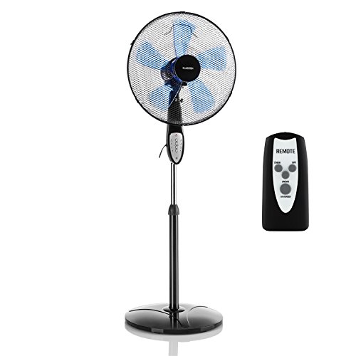 klarstein summerjam ventilator standventilator mit fernbedienung leise 5 blatt rotor. Black Bedroom Furniture Sets. Home Design Ideas
